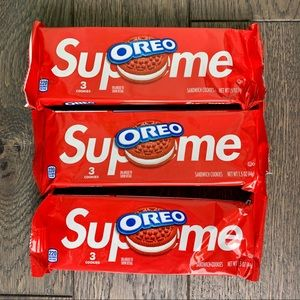 Supreme x Oreo 3 packs, 3 in each pack. 9 total